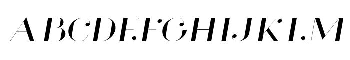 Glamor Light Extended Italic Font UPPERCASE