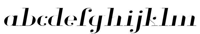 Glamor Light Extended Italic Font LOWERCASE