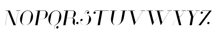 Glamor Light Italic Font UPPERCASE