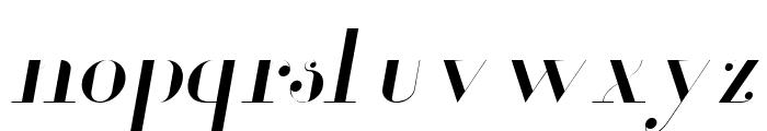 Glamor Light Italic Font LOWERCASE