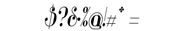 Glamor Medium Condensed Italic Font OTHER CHARS