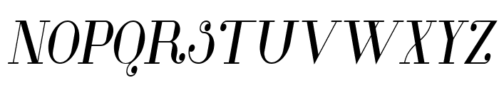 Glamor Medium Condensed Italic Font UPPERCASE