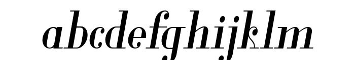 Glamor Medium Condensed Italic Font LOWERCASE