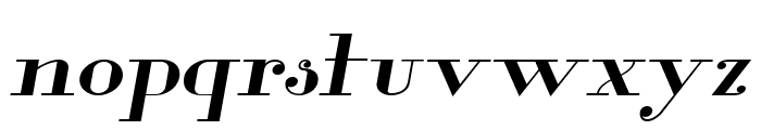 Glamor Medium Extended Italic Font LOWERCASE