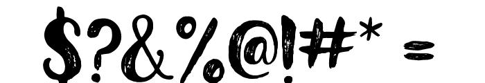 Glamour Brush Regular Font OTHER CHARS
