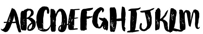 Glamour Brush Regular Font UPPERCASE