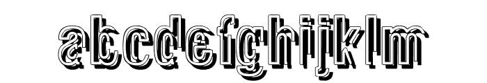 Glasnost Heavy Font LOWERCASE