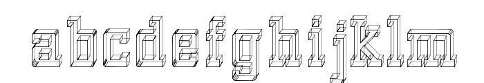 GlassBlocks Font LOWERCASE