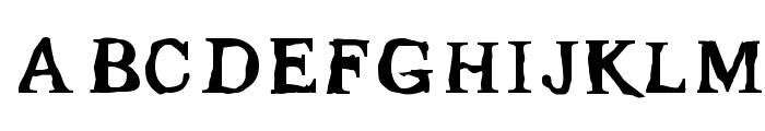 Gleam Font UPPERCASE