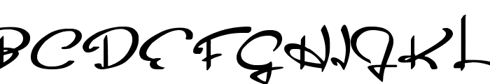 Glider Girls Font UPPERCASE