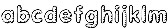 Glimstick Font LOWERCASE