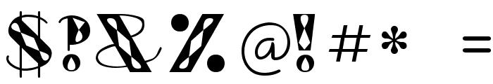 GlitzyJewel Regular Font OTHER CHARS