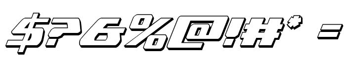 Global Dynamics 3D Italic Font OTHER CHARS