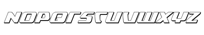 Global Dynamics 3D Italic Font UPPERCASE