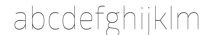 GloberThinFree Font LOWERCASE