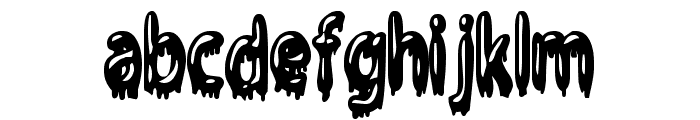 Gloop Font LOWERCASE
