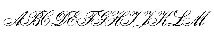 Gloria script Font UPPERCASE