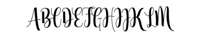 Glorious Free Font UPPERCASE