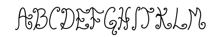 Glyphy Font UPPERCASE