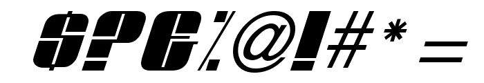 Glypic Italic Font OTHER CHARS