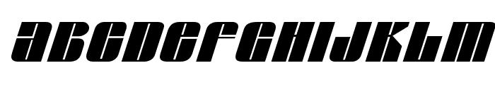 Glypic Italic Font UPPERCASE