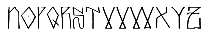 glubgraff Font LOWERCASE