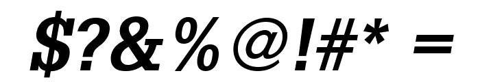 GlyphaLTStd-BoldOblique Font OTHER CHARS