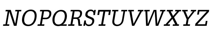 GlyphaLTStd-Oblique Font UPPERCASE