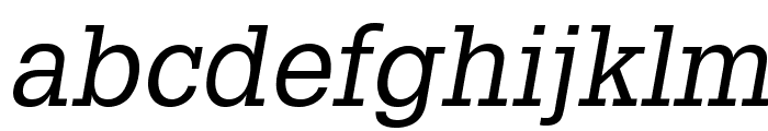 GlyphaLTStd-Oblique Font LOWERCASE