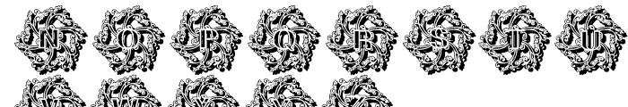 Glaciana Decorative Shadow Font UPPERCASE