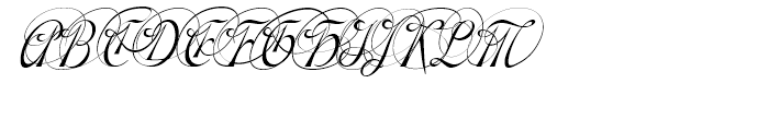 Gladly Ornate Narrow Oblique Font UPPERCASE