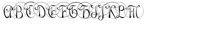 Gladly Ornate Narrow Font UPPERCASE