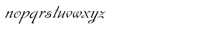 Gladly Ornate Oblique Font LOWERCASE