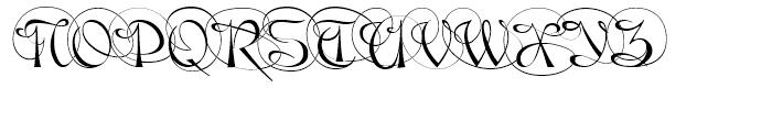 Gladly Ornate Font UPPERCASE
