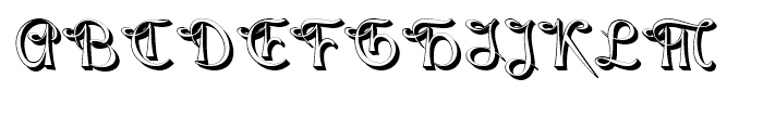Gladly Rococo Font UPPERCASE