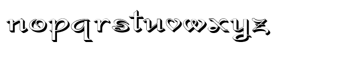 Gladly Rococoo Wide Font LOWERCASE