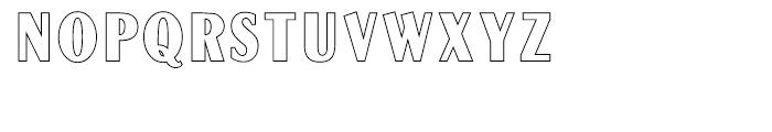 Globe Gothic Outline Font UPPERCASE