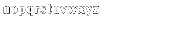 Globe Gothic Outline Font LOWERCASE