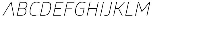 Glober Light Italic Font UPPERCASE