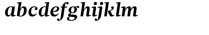 Glosa Bold Italic Font LOWERCASE