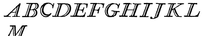 Glosilla Castellana Cursiva Font UPPERCASE