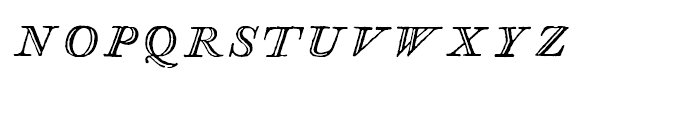 Glosilla Castellana Cursiva Font LOWERCASE