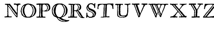 Glosilla Castellana Regular Font UPPERCASE