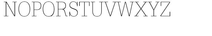 Glypha 35 Thin Font UPPERCASE