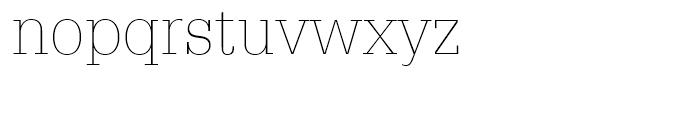 Glypha 35 Thin Font LOWERCASE