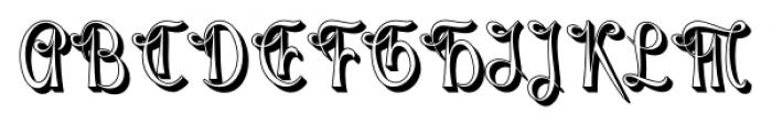 Gladly Rococo Narrow Font UPPERCASE