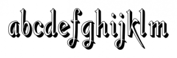 Gladly Rococo Narrow Font LOWERCASE