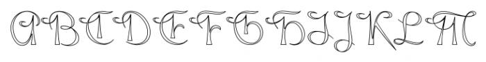 Gladly Wisp Regular Font UPPERCASE