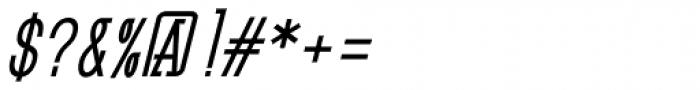 GL Benicassim Bold Oblique Font OTHER CHARS