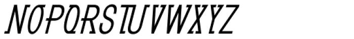 GL Benicassim Bold Oblique Font LOWERCASE